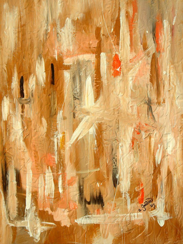 Abstraktion in Beige