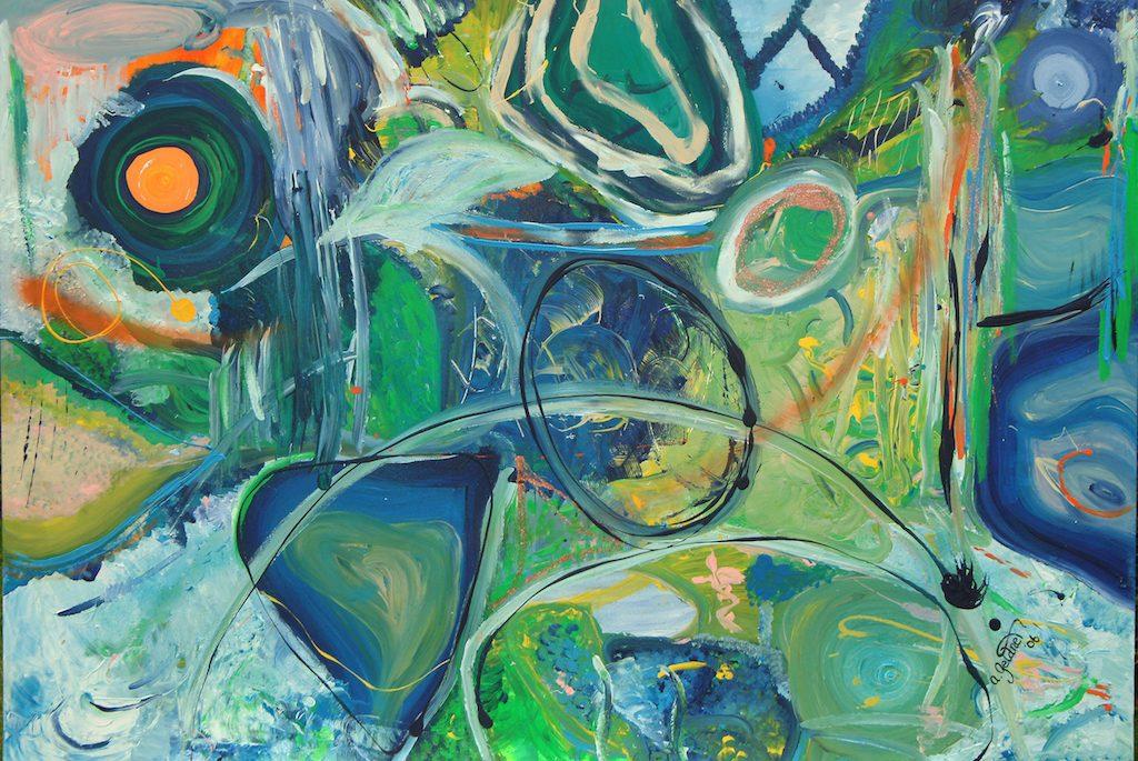 Abstraktion in Grün