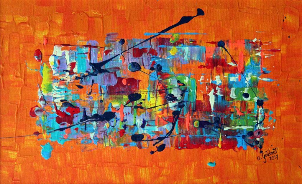 Abstraktion in Orange