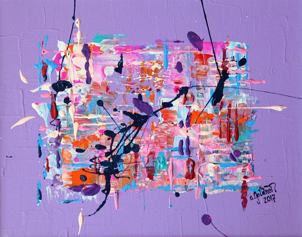 Abstraktion in lila