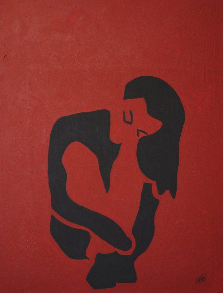 Die einsame Frau