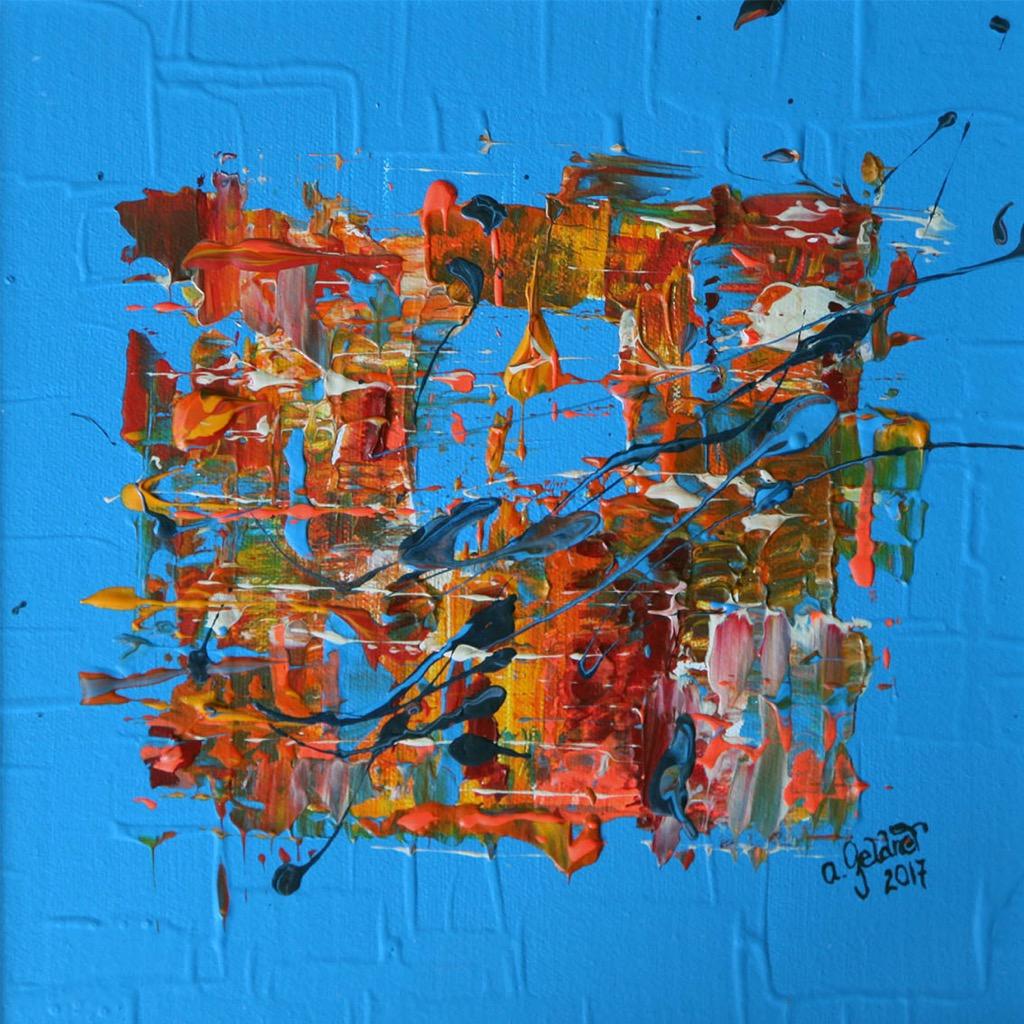 Abstraktion in hellem Blau
