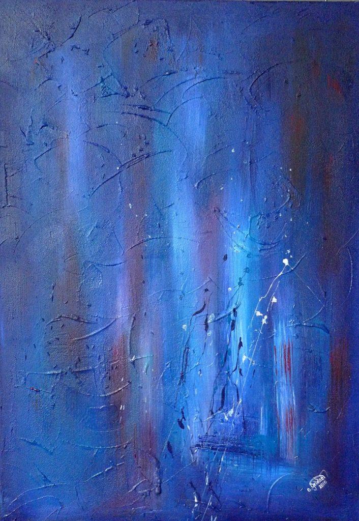 Impression in Blau